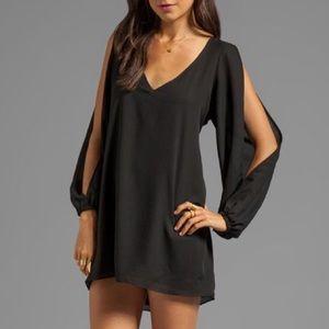 Lovers & Friends • Black Split Sleeve Mini Dress